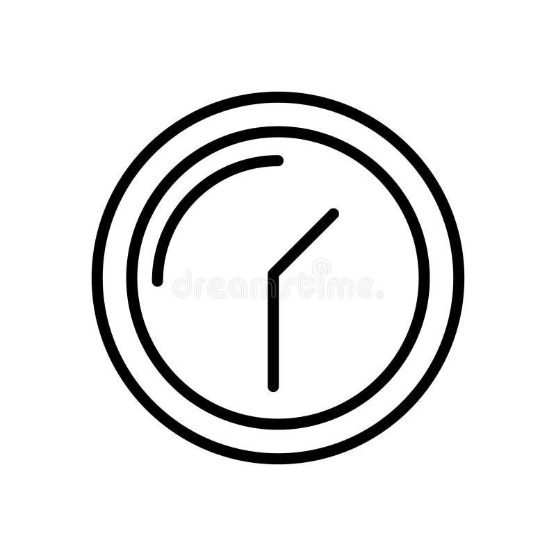 优质时间象或商标在线型 库存例证