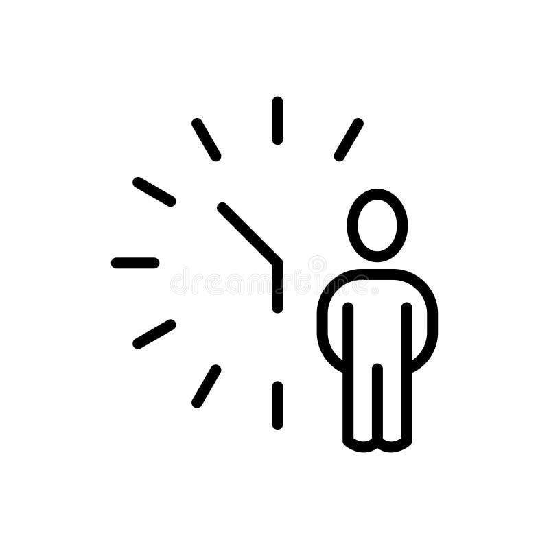 优质时间象或商标在线型 向量例证