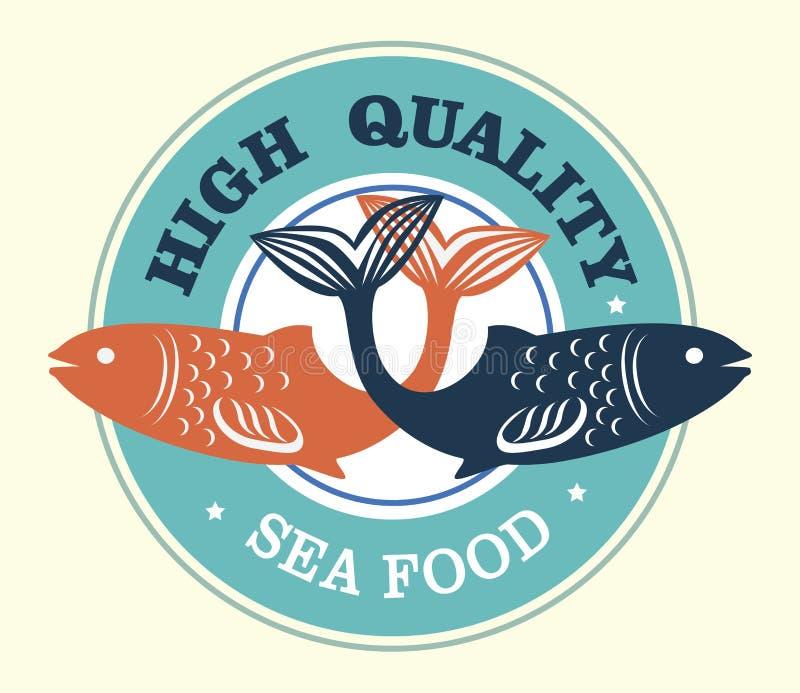 优质的海鲜 向量例证
