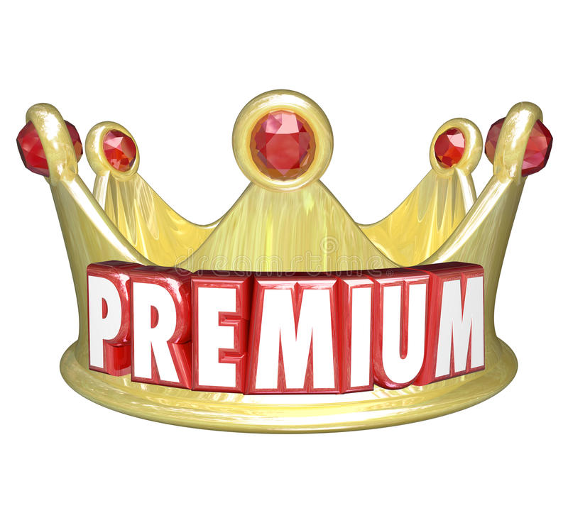 优质词金冠上面排受雇用的顾客 向量例证