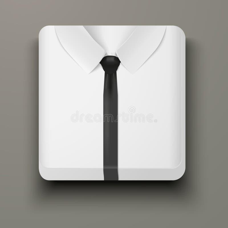 优质象白色衬衣和半正式礼服。 向量例证