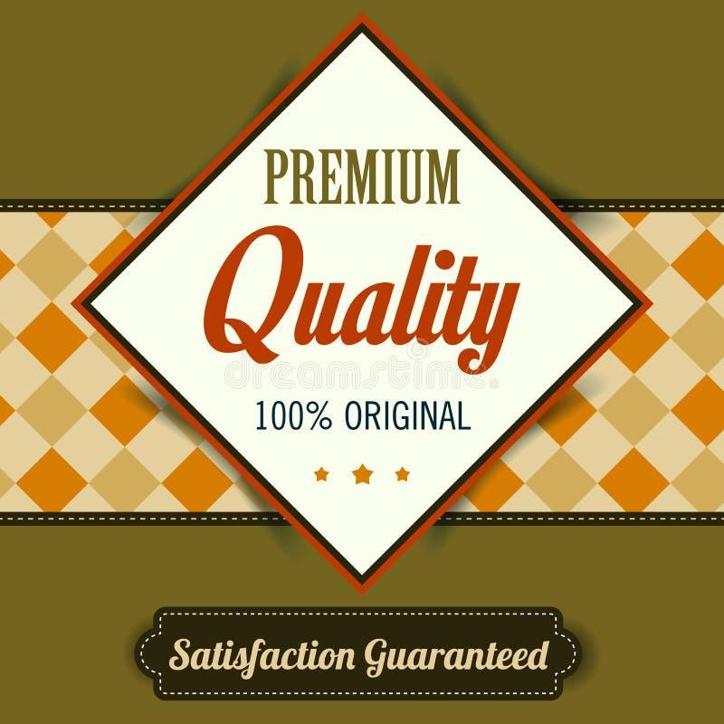 优质质量海报,减速火箭的葡萄酒设计 库存例证