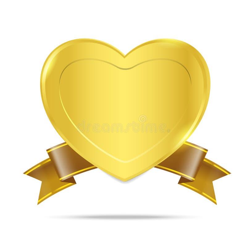优质金徽章标记横幅005 皇族释放例证
