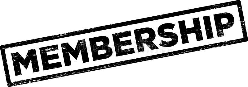 会员资格邮票 向量例证