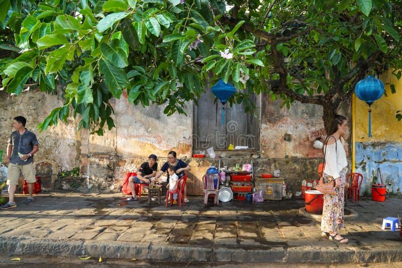 会安市在越南-白天 库存照片