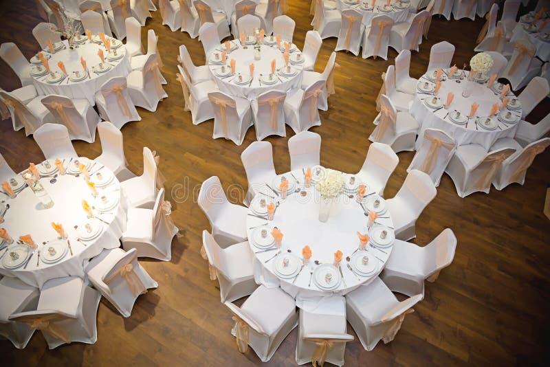 宴会桌顶视图  库存图片
