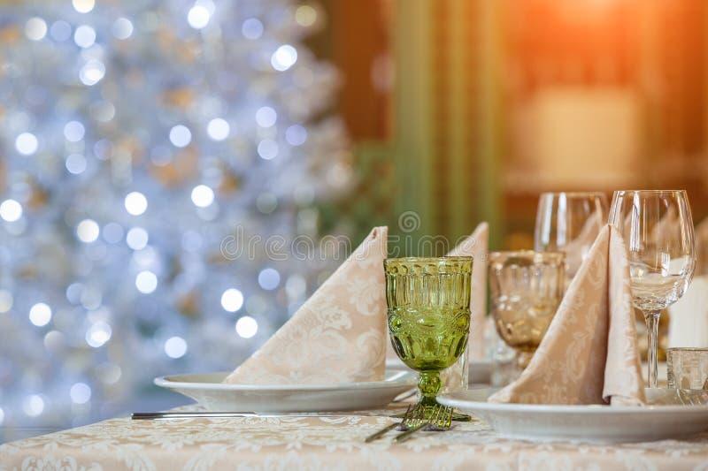 宴会桌 免版税库存图片
