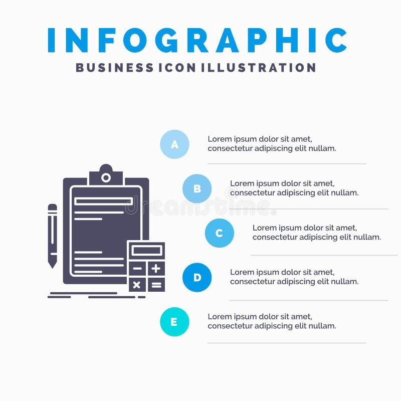 会计、银行业务、计算器、财务、审计Infographics模板网站的和介绍 r 向量例证