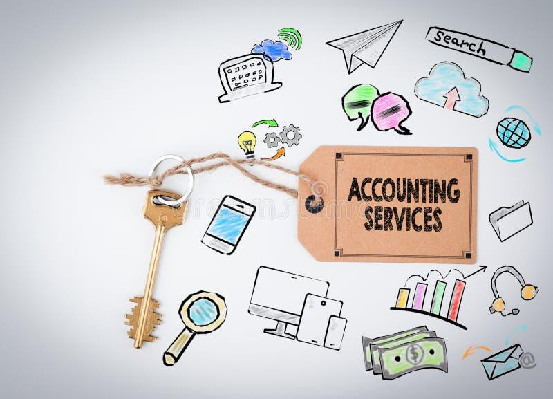 会计服务 背景关键白色 向量例证