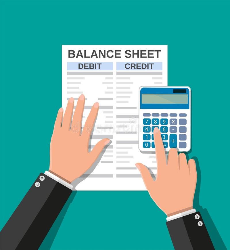 会计检查金钱平衡 库存例证