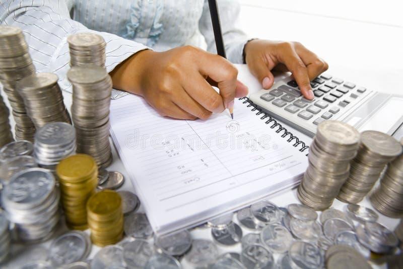 会计科目妇女工作 免版税库存图片
