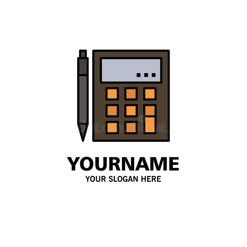 会计,帐户,计算,演算,计算器,财政,算术企业商标模板 o 库存例证