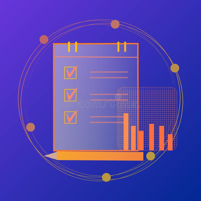 会计,税,审计,演算,数据分析,报告 向量例证