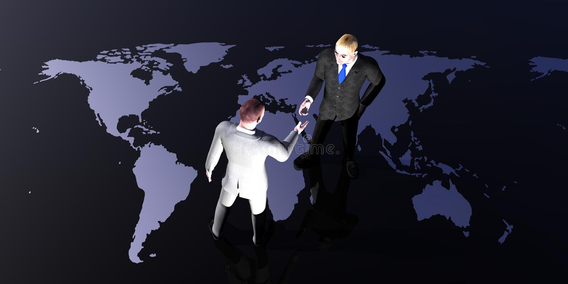 会议世界 皇族释放例证