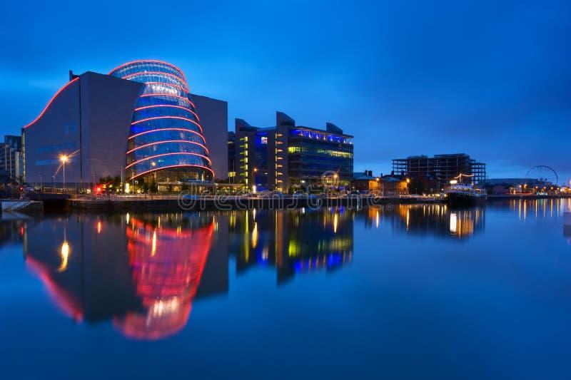 会议中心都伯林在爱尔兰 免版税库存图片