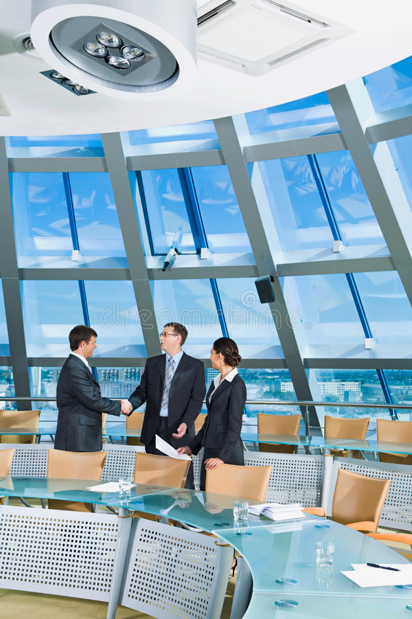会议信号交换空间 免版税图库摄影
