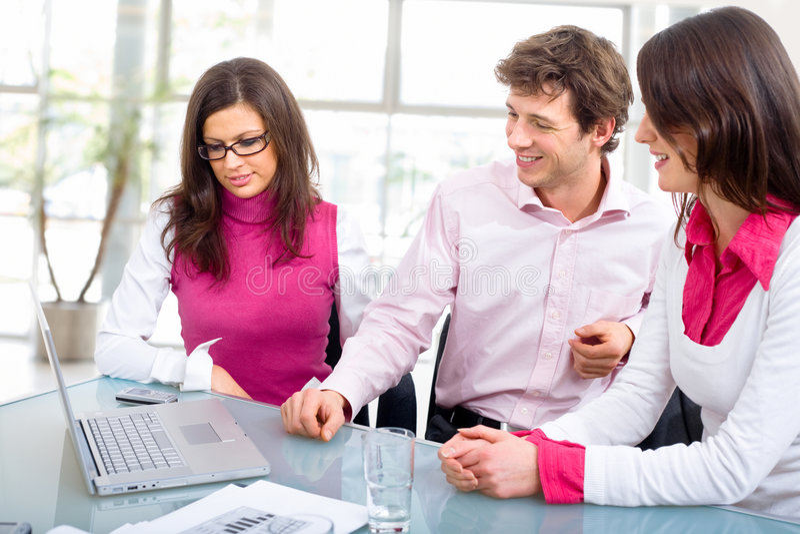 会议办公室工作人员 库存图片