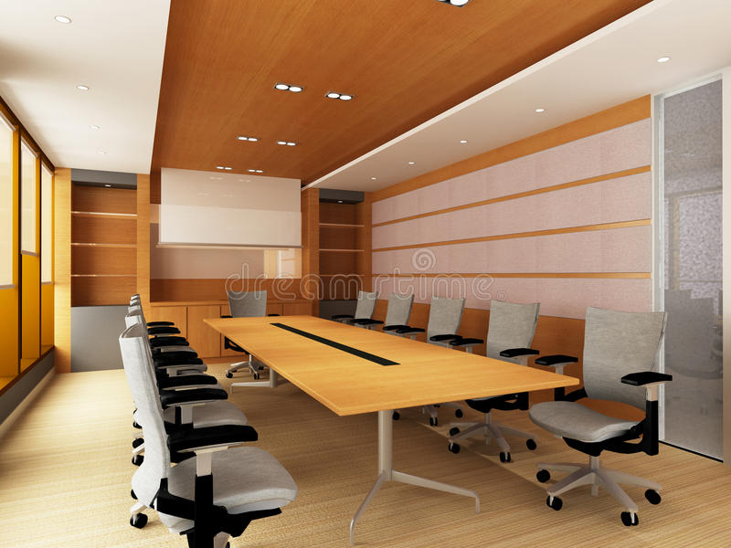 会议办公室空间 向量例证
