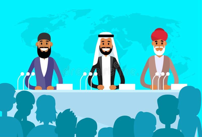 会议国际领导人阿拉伯印地安犹太人 向量例证