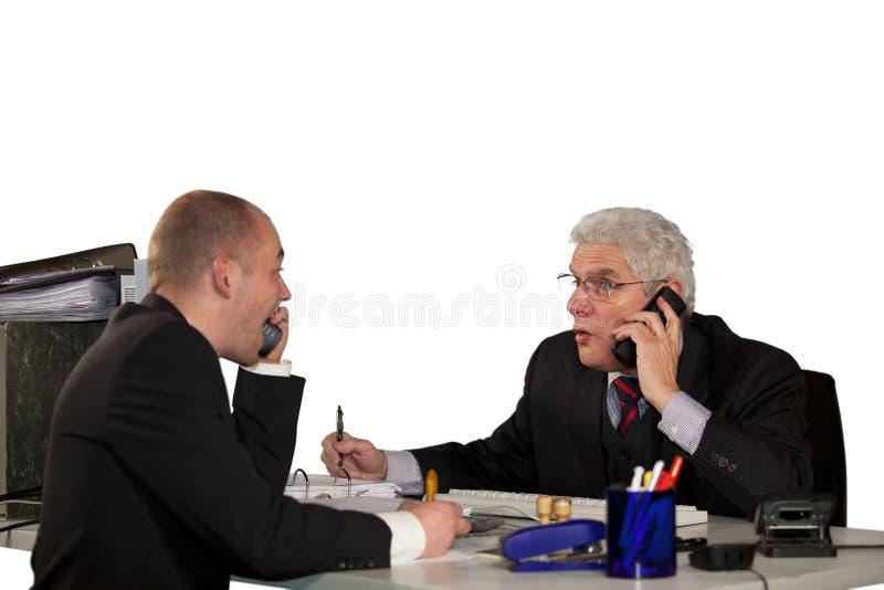 会议坚韧论述的电话 库存照片