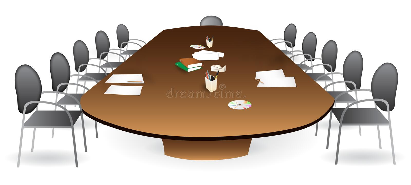 会议室会议室 皇族释放例证