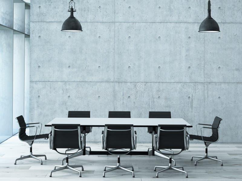 会议室内部 库存例证