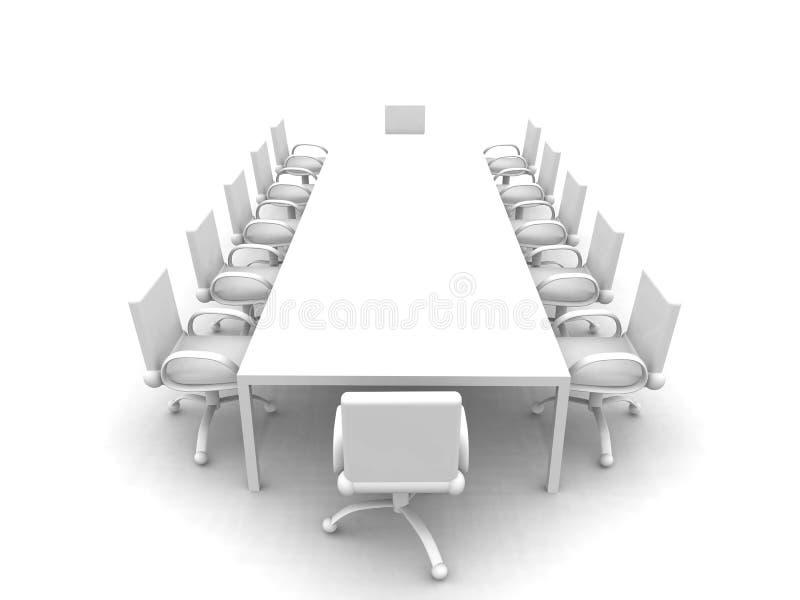 会议室白色 库存例证