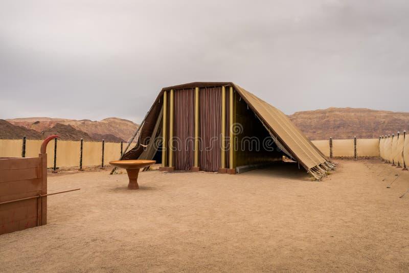 会议帐篷- Timna公园-以色列 免版税库存图片