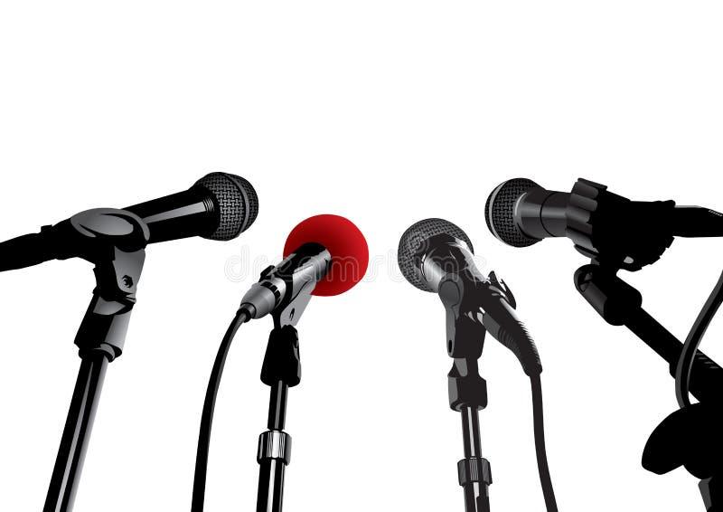 会议新闻向量 向量例证