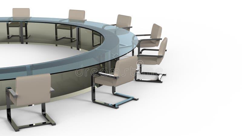 会议桌 向量例证