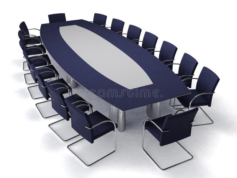 会议桌 库存例证
