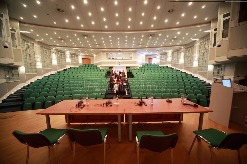 会议注册空间场面 库存图片