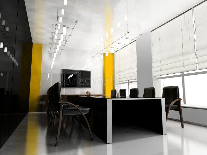 会议现代空间 库存例证