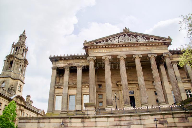 会议议院尖顶和哈里斯博物馆 免版税库存图片