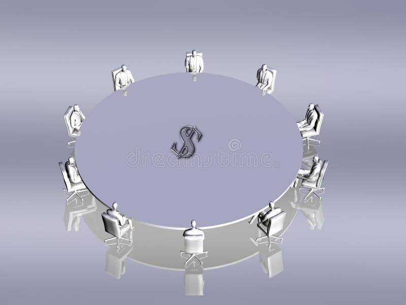 会议配合 向量例证