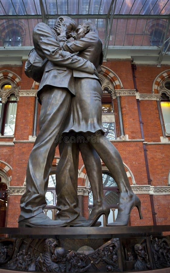 会议pancras安置雕塑st岗位 库存图片