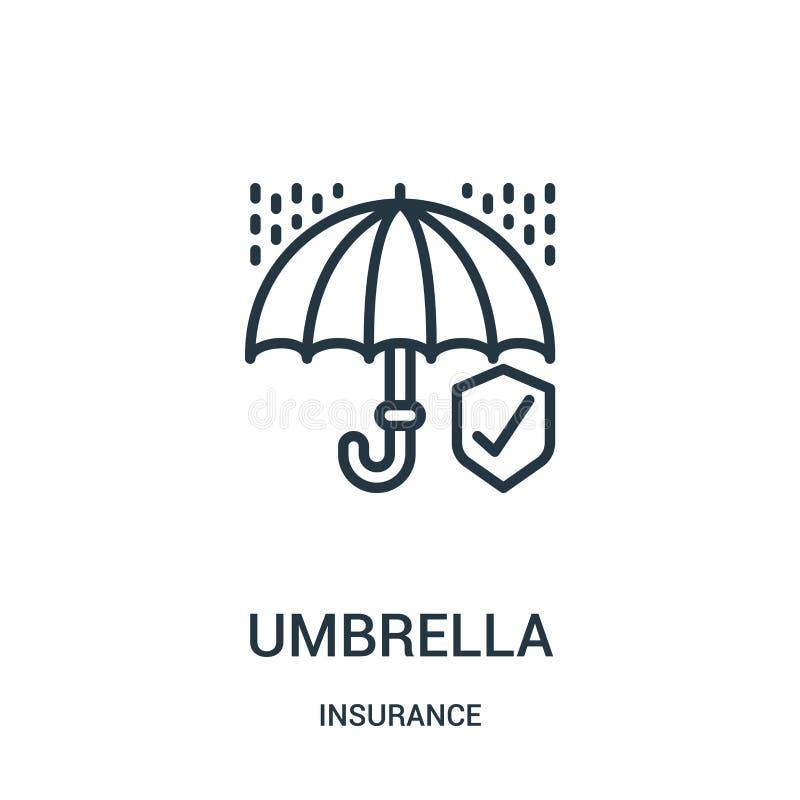 伞从保险汇集的象传染媒介 稀薄的线伞概述象传染媒介例证 r 向量例证