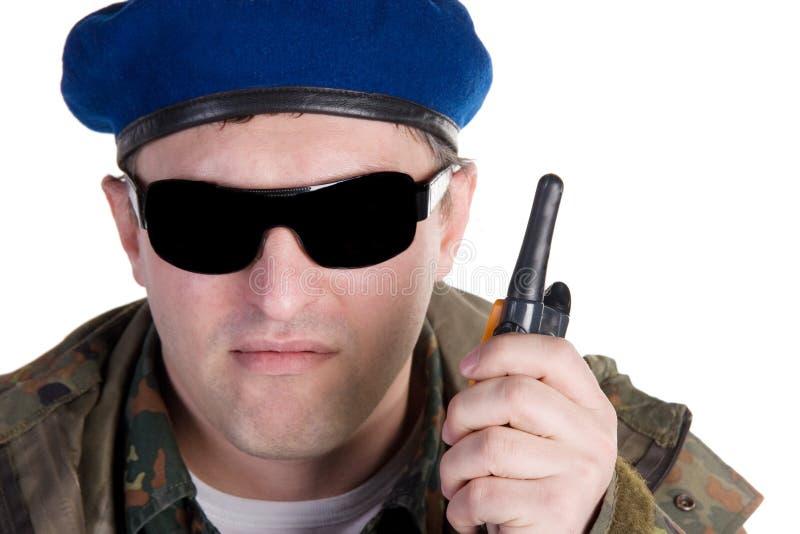 伞兵俄语 免版税库存照片