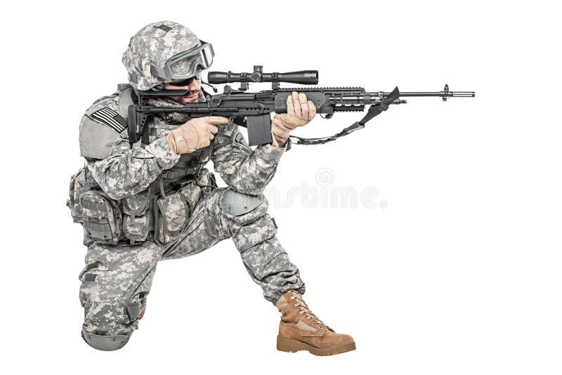 伞兵空降步兵 免版税库存图片