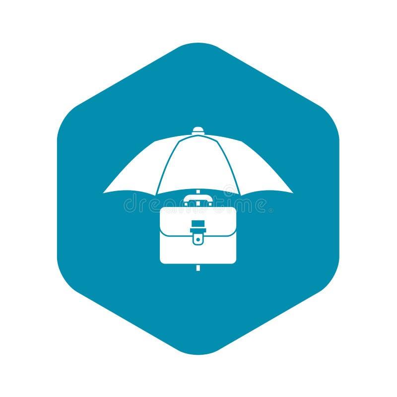 伞和企业案件象,简单的样式 皇族释放例证