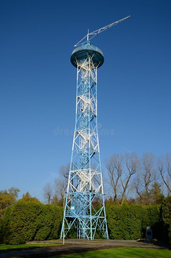 伞塔在卡托维兹,波兰 免版税库存照片