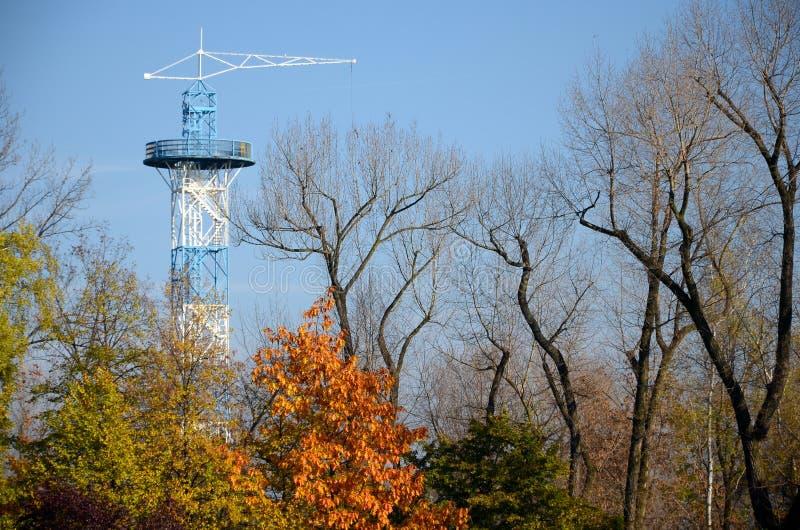 伞塔在卡托维兹,波兰 库存照片