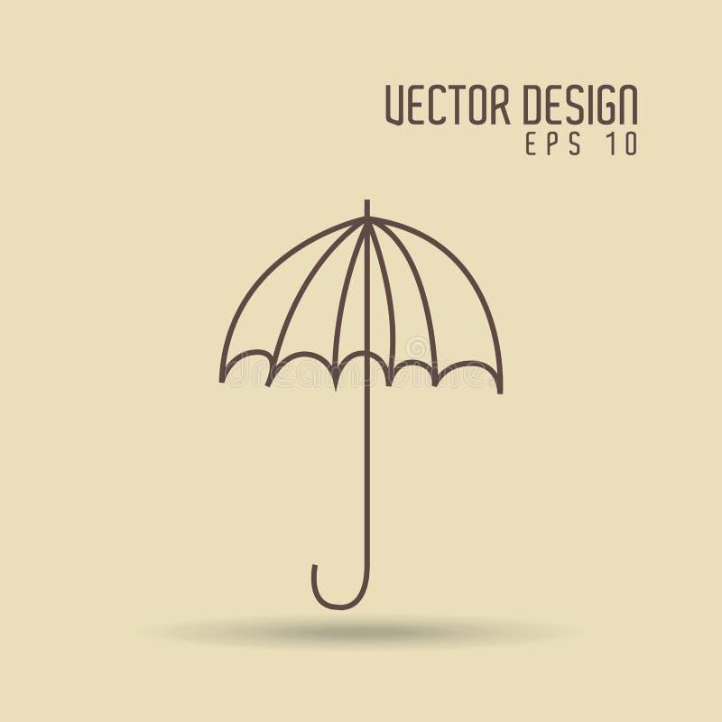伞得出的象设计 向量例证