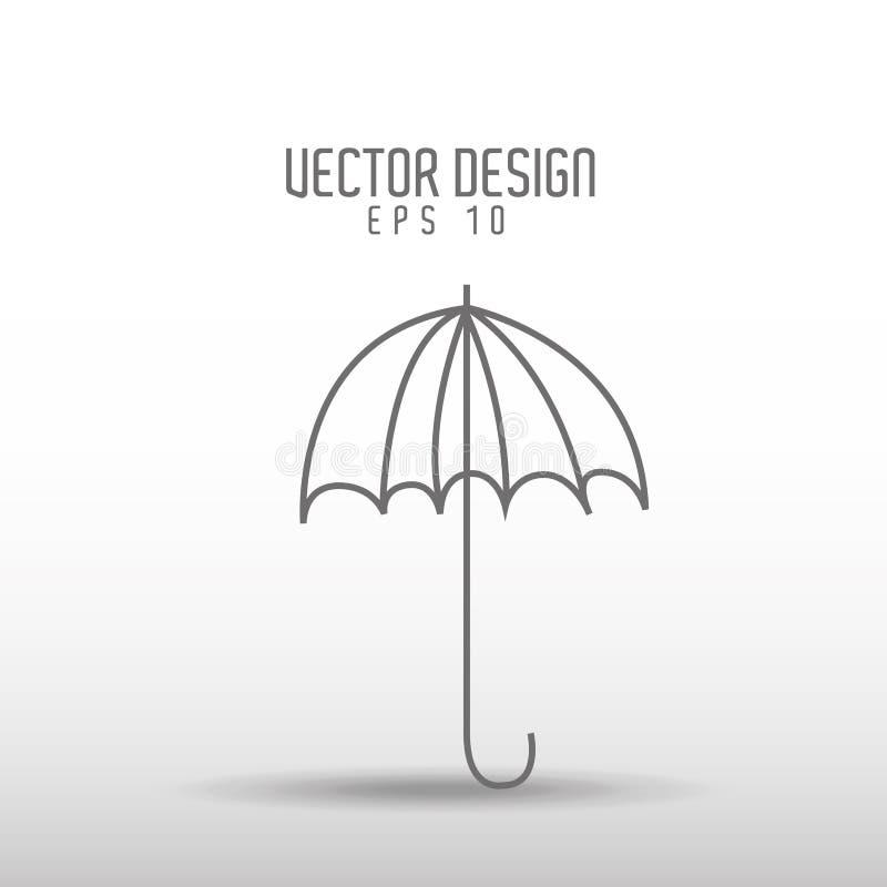 伞得出的象设计 皇族释放例证