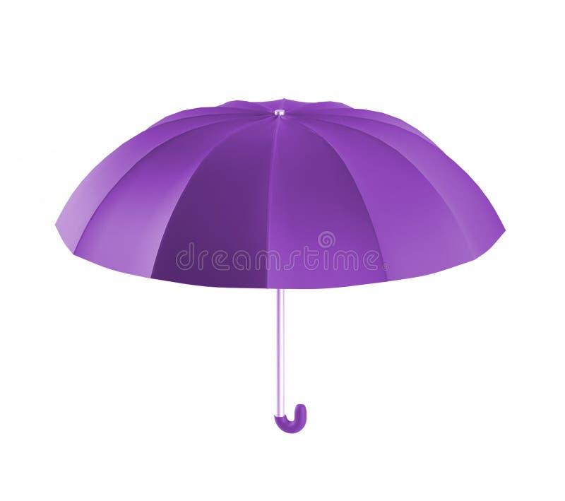 伞紫色,3d回报 向量例证