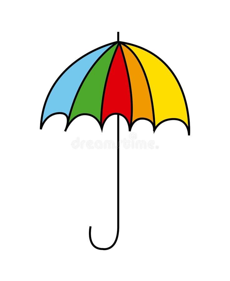 伞设计 库存例证