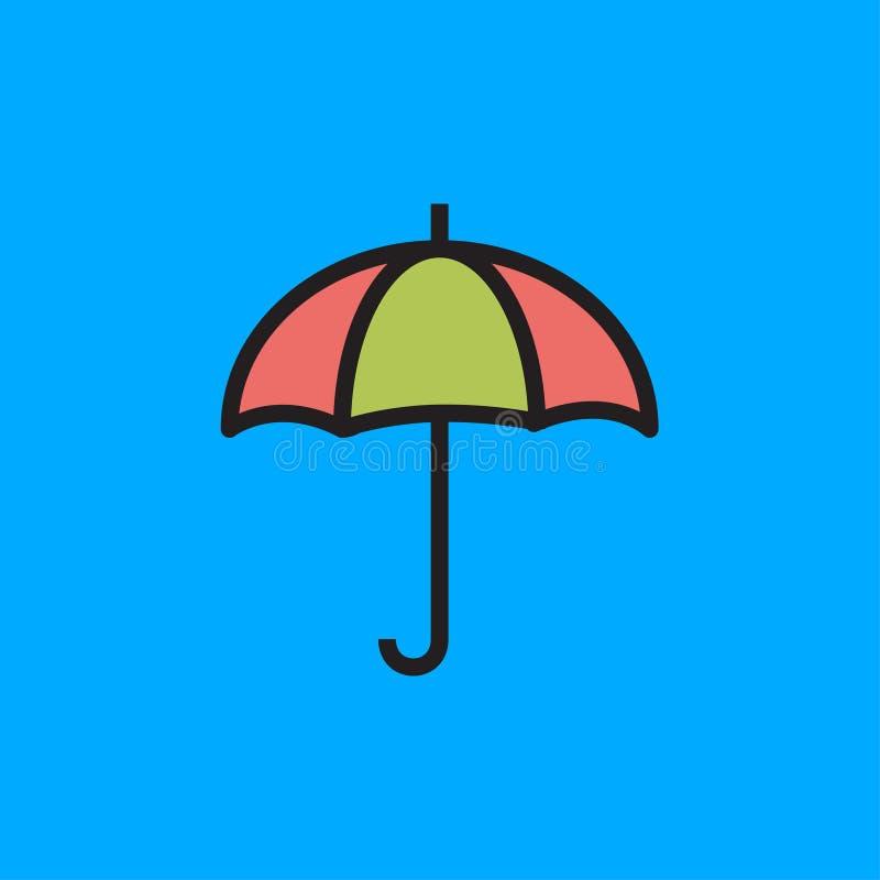 伞象传染媒介例证 免版税图库摄影