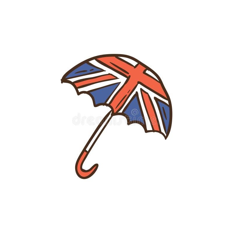 伞象和背景与平的设计 皇族释放例证