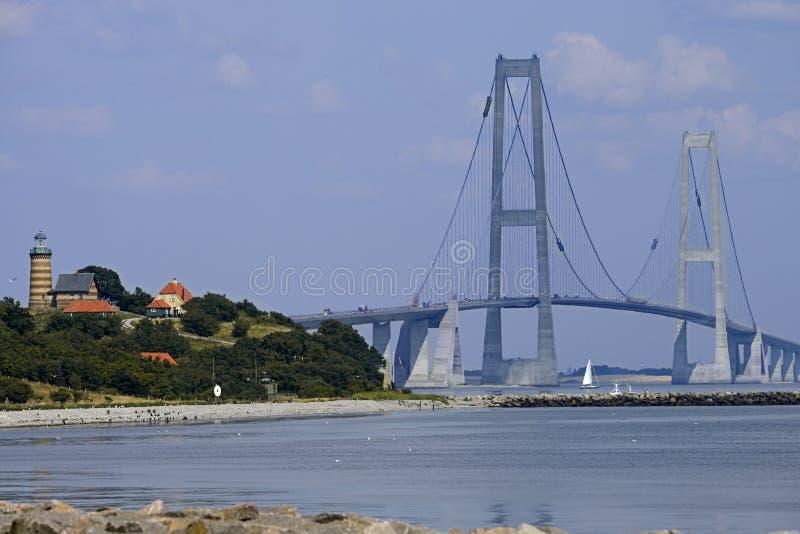 伟大的传送带吊桥,丹麦 库存照片