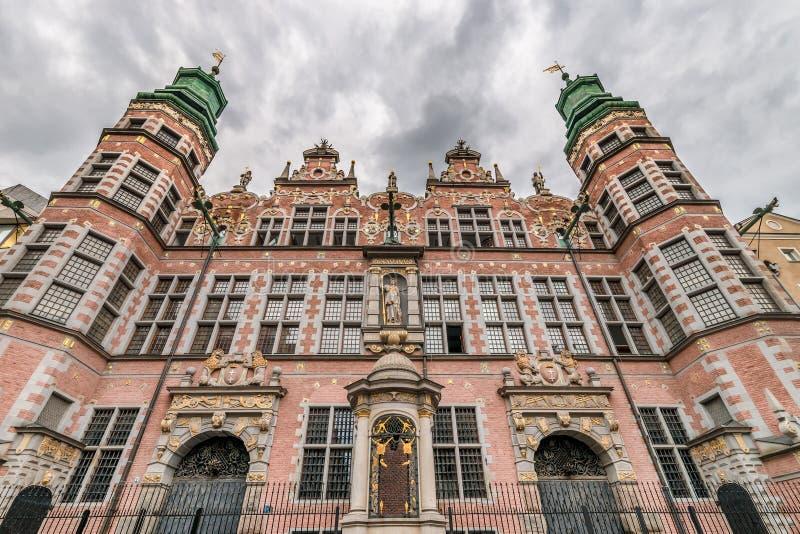 伟大的军械库大厦& x28; Wielka Zbrojownia& x29;-地标在格但斯克, 免版税库存图片